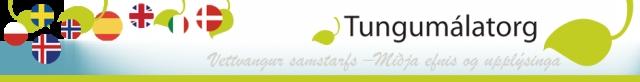 Tungumálatorg - lógó á heimasíðu